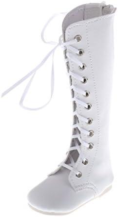 人形衣類 アクセサリー 1/3スケール BJD SD MSD ドール用 ファッション マーティンブーツ シューズ 2色選ぶ - ホワイト