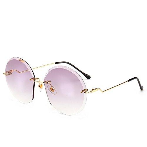 Sol Transparente la Femeninas de vidrios Sombras de Se Grandes Tinte Llegada New Transparente rebordes Pynxn Rosado para los Claro oras Gris sin Oculos Redondas de Mujeres pulir Gafas Gradiente de Las 0twqnfxB