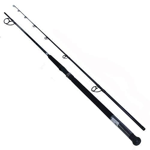 - Daiwa Emcast Surf Spinning Rod 9' Length, 2 Piece Rod, 15-25 Lb Line Rate, 1-4 Oz Lure Rate, Medium Power