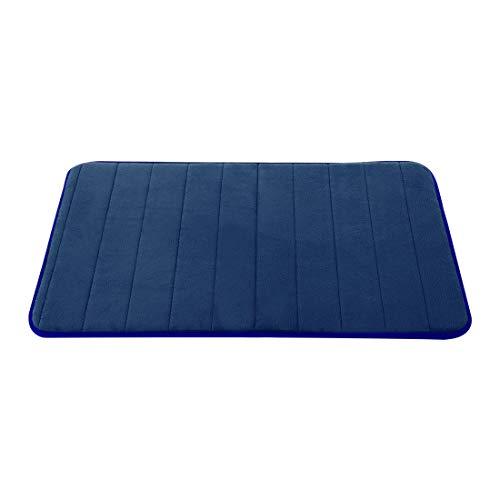 uxcell Bathroom Mats Non-Slip Soft Absorbent Memory Foam Rugs Carpet Royal Blue 32 x 20 Inch