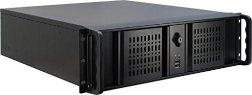 Inter-Tech 3U-3098-S Estante Negro - Caja de Ordenador (Estante, Servidor, Acero, Negro, ATX,Micro ATX,uATX,Mini-ITX, 3U): Amazon.es: Informática