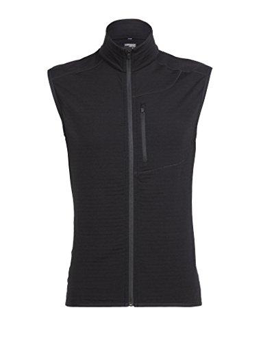 (Icebreaker Merino Men's Descender Vest, Black/Black,)
