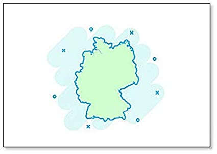 Cartoon Map Of Germany.Amazon Com Cartoon Colored Germany Map Classic Fridge Magnet
