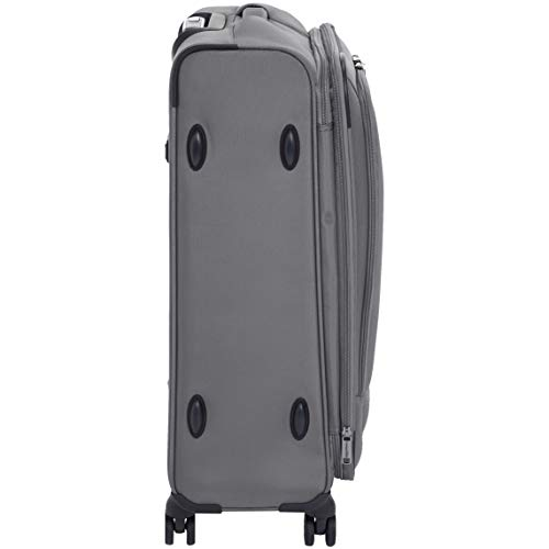 AmazonBasics Premium Expandable Softside Spinner Luggage With TSA Lock- 25 Inch, Grey