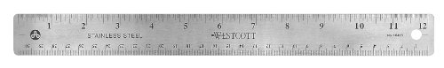 Westcott Stainless Steel Office Ruler product image