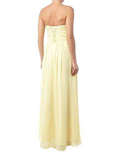 Partykleider Abendkleider Brautjungfernkleider Elegant Empire Marie Braut Bodenlang La Blau Traegerlos vqB4w0H0F