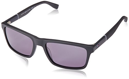 Tommy Hilfiger Men's Th1405s Square Sunglasses, Matte Black, 56 ()