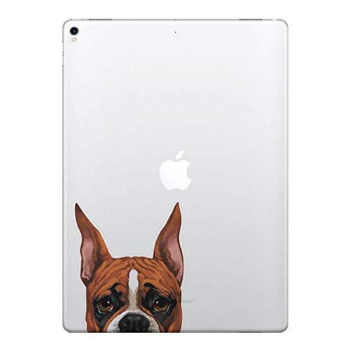 FINCIBO 5 x 5 inch Fawn Color Boxer Dog Removable Vinyl Decal Stickers for iPad MacBook Laptop (Or Any Flat ()
