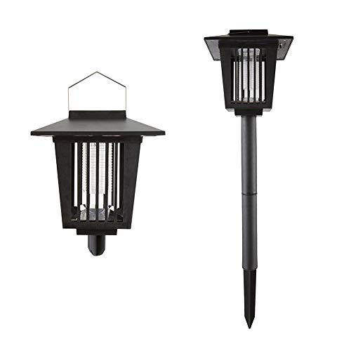 Meckily Solar Bug Zapper Light, Pest Trap Mosquito Killer Insect Killer, Outdoor Lamp Hang Stake in the Ground Portable Garden Lawn Light Residential, Commercial Industrial Use