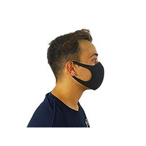KMINA – Masque Lavable Économique (20 unités), Masque Noir, Masques Lavables et Réutilisables, Masque Noir Lavable…