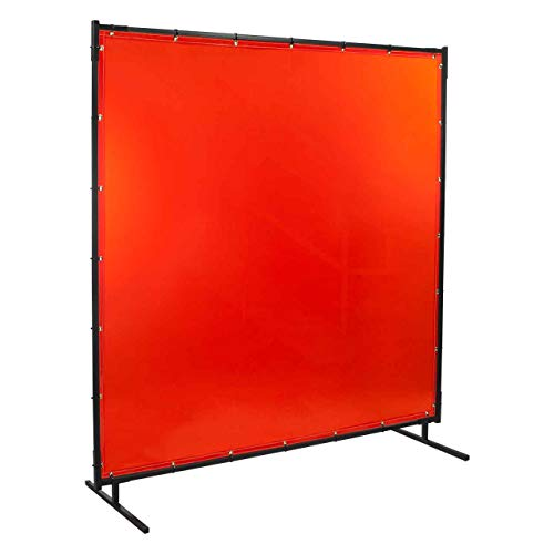 Steiner 538-4X5 Protect-O-Screen Classic Welding Screen with Flame Retardant 14 Mil Tinted Transparent Vinyl Curtain, Orange, 4