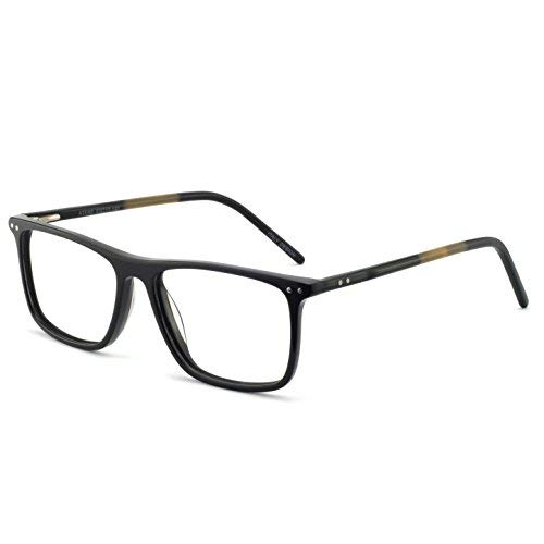 OCCI CHIARI Optical Eyewear Non-prescription Eyeglasses Frame with Clear Lenses For Mens(Black 53mm) -