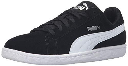 (Puma Men's Suede Smash Fashion Sneaker, Puma Black/Puma White, 9 M US)