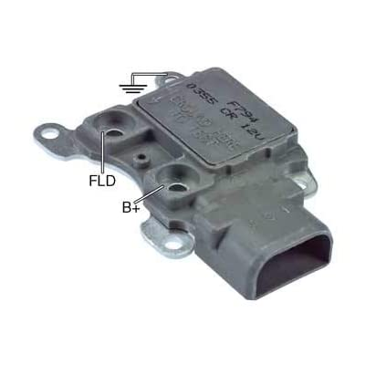 New Regulator, Compatible with Electronic, 12V, 14.7 Set Point, A-Circuit, Ignition Activation, Heavy Duty / F0DZ-10316-A, V4L2U10316AA, F0DU-10316-AA, F77U-10316-AA, E9DF10316A, F5DU-10316-AA: Automotive