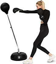 Punching Bag with Stand Boxing Bag for Kids & Adults, Height Adjustable - Freestanding Punching Ball Worko