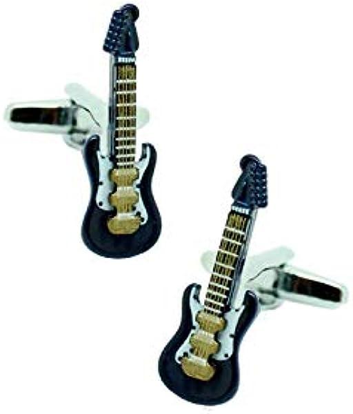 MasGemelos - Gemelos Guitarra Eléctrica Azul 3D Cufflinks