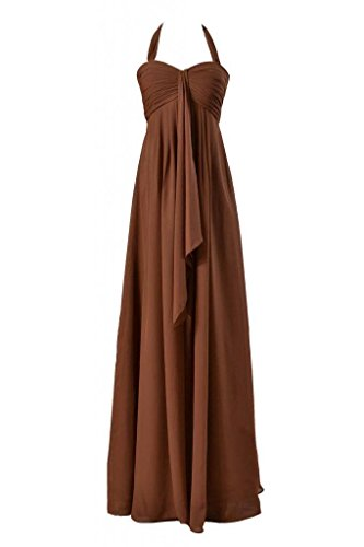 0d2b91355ee77 DaisyFormals Long Halter Chiffon Bridesmaid Dress Empire Evening Dress(BM892L)   47-brown