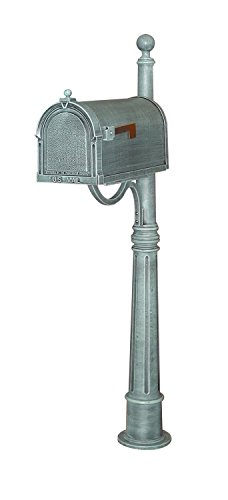 Special Lite Berkshire Curbside Mailbox with Bradford Surface Mount Mailbox Post - Verde Green - 62''H by Special Lite Products Company, Inc.