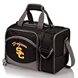 NCAA USC Trojans Malibu Picnic Tote with Deluxe Picnic Service for Two