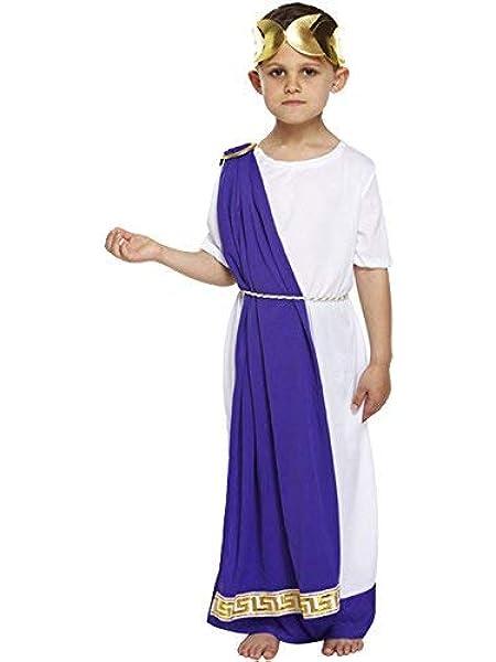 Niños Romano Emperador Disfraz - 10-12 years: Amazon.es: Juguetes ...