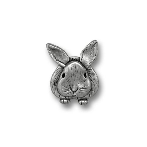 hot Pewter Rabbit Lapel Pin by The Magic Zoo for cheap