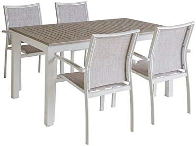SantiagoPons Mesa para Exterior con 4 sillas: Amazon.es: Jardín