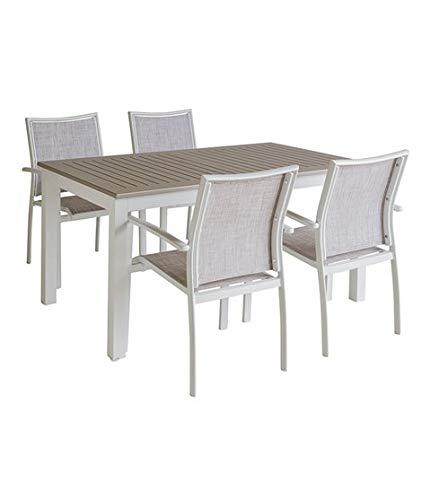 Dabudae Mesa para Exterior con 4 sillas: Amazon.es: Jardín