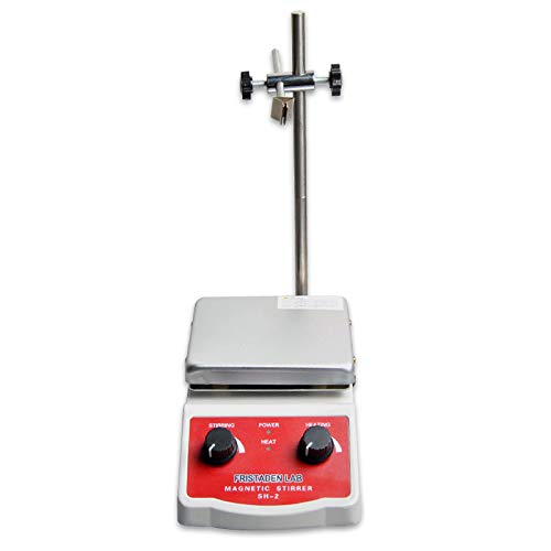 Fristaden Lab SH-2 Laboratory Magnetic Stirrer Hot Plate Mixer, 2,000mL, 100~1600RPM, 180W Heating Power 350°C Max Independently Controls Temperature and Speed 1 Year Warranty by Fristaden Lab (Image #4)