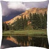 red mountain in uncompahgre np colorado - Throw Pillow Cover Case (18