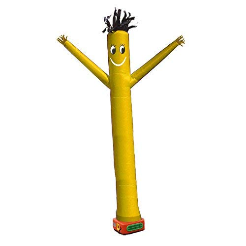 20ft Air Tube Dancer for Open House Walking Man Dancer Puppet Inflatable Air Man Wind Flying Man (Yellow)