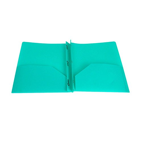Lightahead Two Pocket Poly File Portfolio Folder with 3 ...