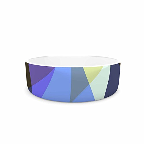 "delicate KESS InHouse AlyZen Moonshadow ""Dream It (Blue)"" Blue Yellow Digital Pet Bowl, 7"" Diameter"
