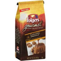 Folgers Gourmet Selections Flavored Ground Coffee, Caramel Drizzle, 10oz Bag (Pack of 6) by Folgers