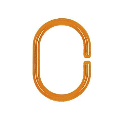 Spirella 1009733 - Anelli per tenda doccia C-Minor, confezione da 12 pezzi, colore: Arancione trasparente 10.09733