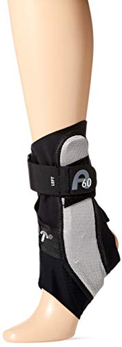 Aircast A60 Ankle Support Brace, Left Foot, Black, Medium (Shoe Size: Men's 7.5-11.5 / Women's 9-13)