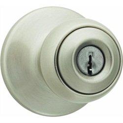 "Kwikset Knob Lock Entry 2-3/8""-2-3/4"" Polo Satin Nickel"