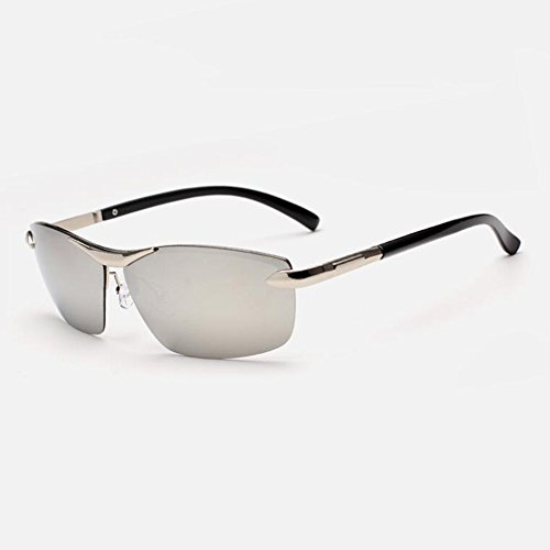 Gris Plata Borde Sin Gafas Clásico Aire Gafas Sol Polarizada De 100 De La Libre Gafas UV Protección Anti Conducción UVA Solar Gafas WYYY Cuadradas Protección Luz Hombres Color wpqPv4I