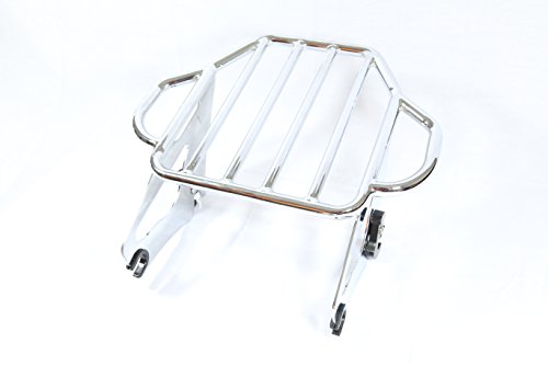 Detachable Two Up Luggage Rack For Harley Davidson HD Touring Street Glide EFI FLHXI(2009-2015) (Fender Luggage Rack)