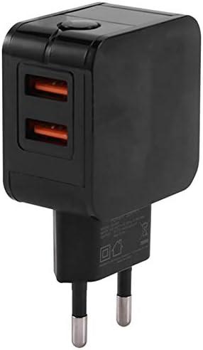 SNOWINSPRING 2.4una 2-Puerto Dual USB Cargador de Pared Inteligente Universal Adaptador de Corriente Alterna Enchufe de la UE