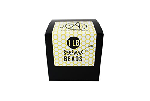 - All-Natural Beeswax Beads/Pastilles - Pure, Cosmetic Grade, (1 Pound, White)