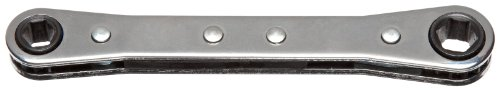 Martin RB810DH Alloy Steel 1/4'' × 5/16'' Opening Ratcheting Straight Pattern Box Wrench, 12 Points Standard, 4-1/4'' Overall Length, Chrome Finish by Martin (Image #1)