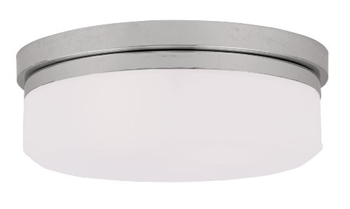 Livex Lighting 7392-05 Isis 2 Light Ceiling Mount or Wall Mount, Chrome