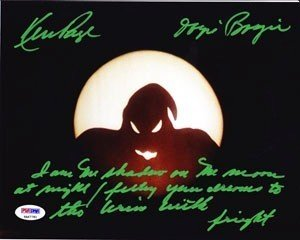 nightmare before christmas signed 8x10 ken page oogie boogie quote halloween psa - Quotes From Nightmare Before Christmas