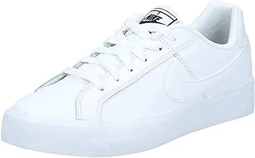 Nike Women's Court Royale AC Sneaker, White/White-Black, 10 Regular US