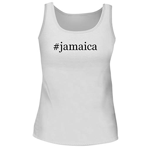 BH Cool Designs #Jamaica - Cute Women's Graphic Tank Top, White, Large