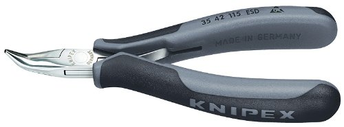KNIPEX 35 42 115 ESD Angled Half Round Tips Electronics Plie