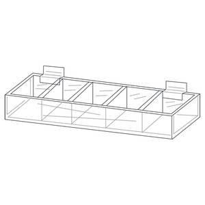 Slatwall Bin (5 Section Slatwall Bin, Clear)