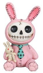 Furrybones Pink Bun Bun Signature Skeleton in Bunny Costume with Bunny (Dead White Rabbit Costume)