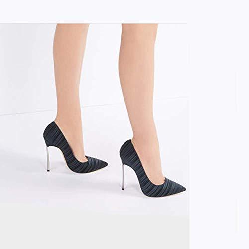 Sexy Scarpe 42 Alti Rosso da Stiletto Tacchi Donna Nero Temperato Donna qXCEwz
