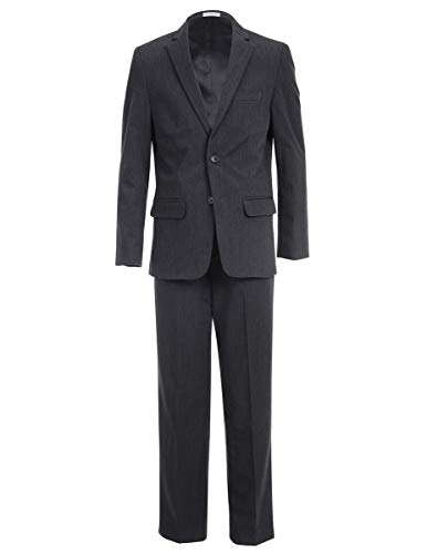 Calvin Klein Big Boys' 2-Piece Formal Suit Set, Modern Charcoal, -